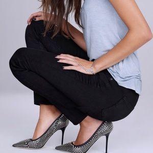 PAIGE Transcend Skyline Black Skinny Jeans